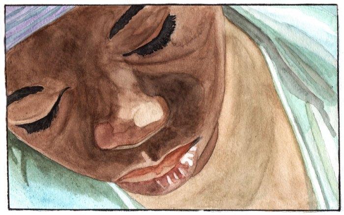 """Une illustration de Colette réalisée d'après une image du film """"Rebelle"""""""