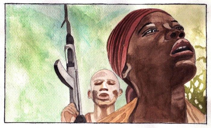 """Une illustration de Colette réalisée d'après une des images du film """"Rebelle"""""""